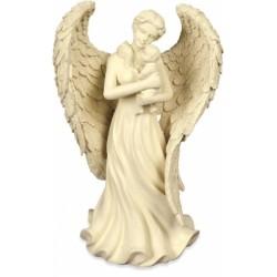 Engelenbeeldje met baby, 22 cm