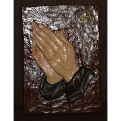 Handgemaakte kaars: wandtegel met de hand beschilderd