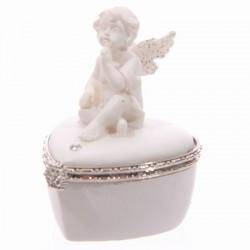Witte Cherubijn desire box, hartvormig