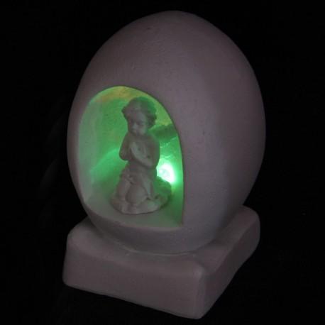 Biddende Cherubijn in ei met Led